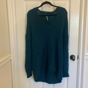 Free People dark green sweater